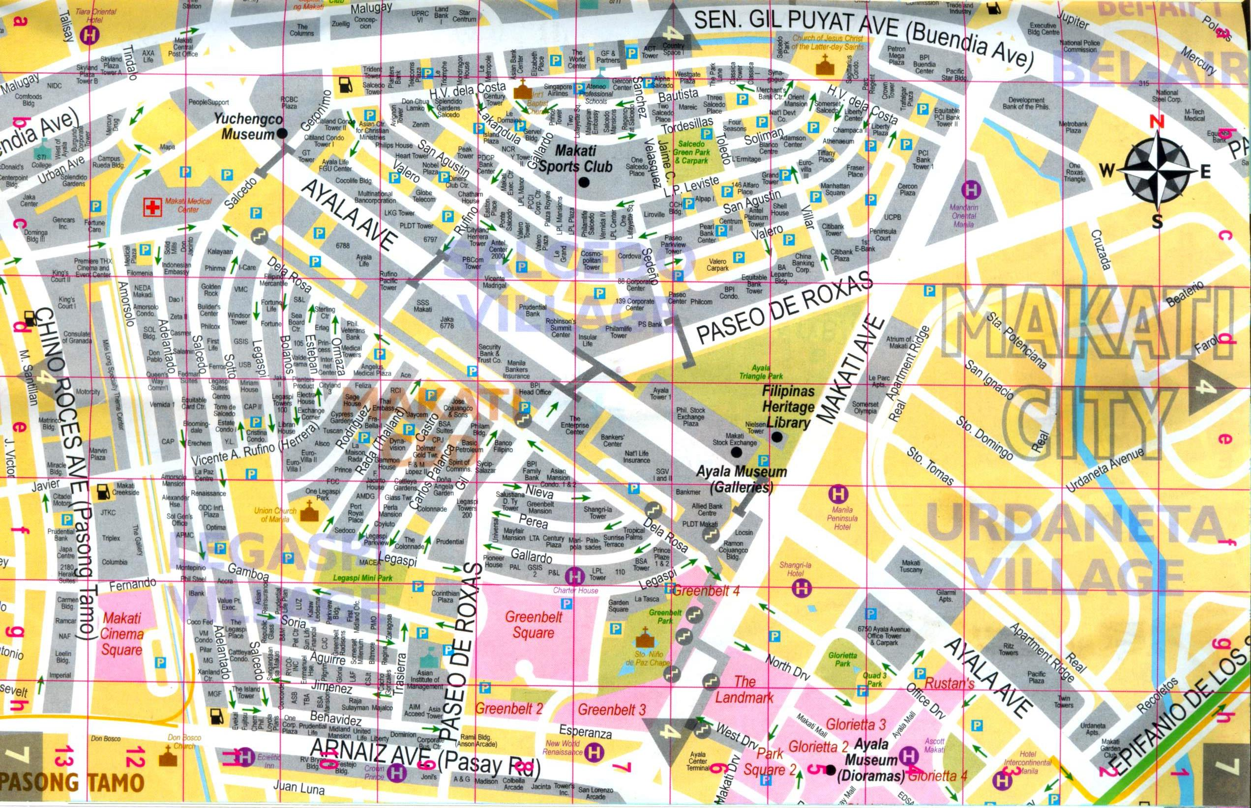 Salcedo Village Detailed Street Map